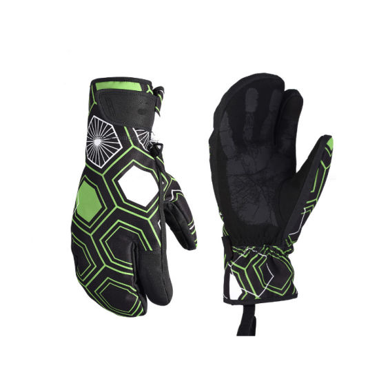 Cycling Mitten Equipment Winter Touch Screen Bicycle Anti-Slip Warm Windproof Thermal Full Finger Bike Bicycle Sport Gloves Skiing Gloves