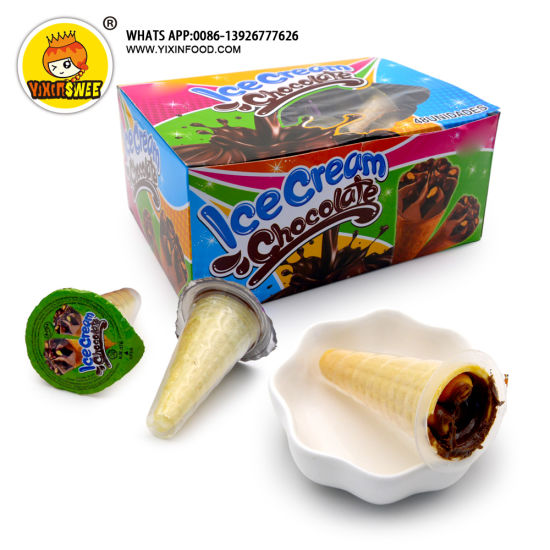 Ice Cream Shaped Chocolate with Biscuit
