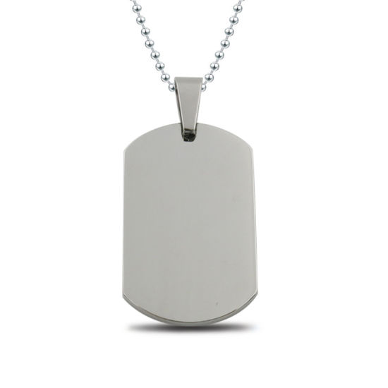 Mirror Polish Military Blank Stainless Steel Dog Tag