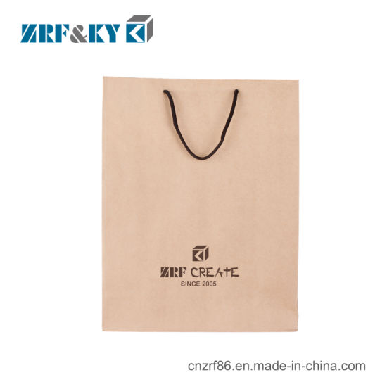 Customized Recyclable Printed Logo Kraft Paper Packing Gift Shopping Bag