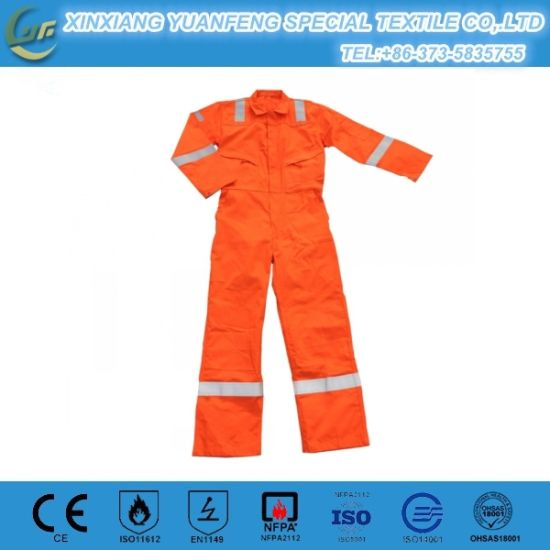 Wholesale Fr Fireproof Workwear Men′s Reflective Nomex Coveralls pictures & photos