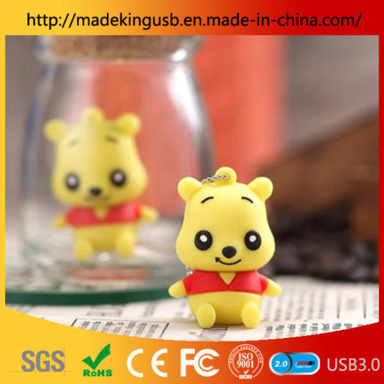Computer Car-Mounted Small Bear Cartoon 32g USB Flash Drive for Mini Creative Lovely Gift