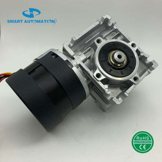 80mm High Torque High Power Worm Gear Brushless DC Motor with Nmrv Worm Gearbox