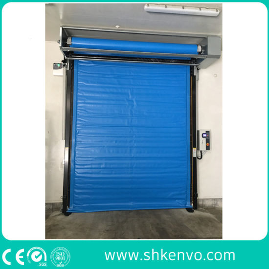 Thermal Insulated PVC Rapid Rolling up Door with Heating Device for Cold Stores or Freezer Room