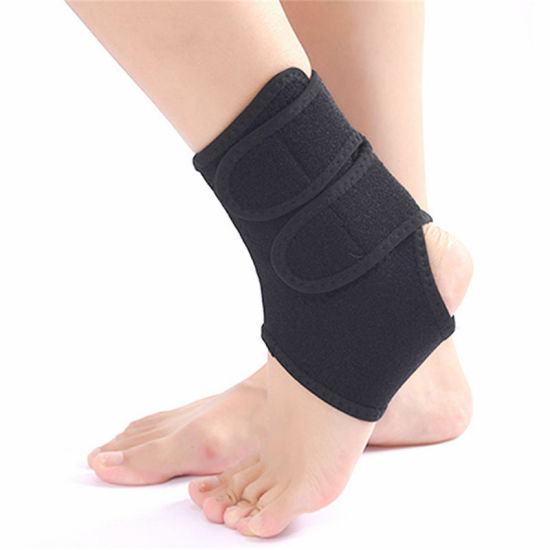 Neoprene Durable Compression Ankle Belt Foot Support Brace with Magic Tape