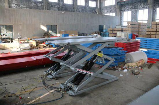 3000kg on Floor Ultrathin Small Scissor Car Lift with Ce