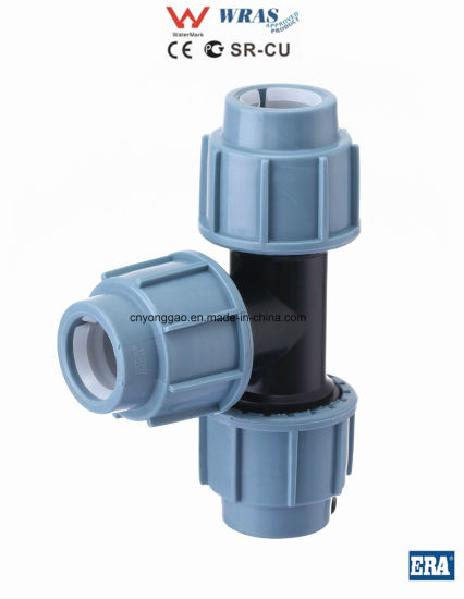 PP Compression Fittings Tee Wras Certificated