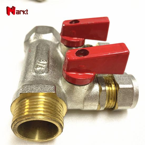 2 Port Brass Underfloor Heating Manifolds