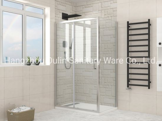 Square or Rectangular Shower Enclosure with Tempered Glass - Various Sizes Available
