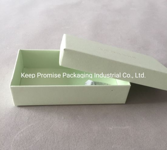 Rigid Butterfly Gift Packaging Green and White Paper Earring Jewelry Box