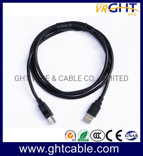 USB High-Speed 2.0 Cable M//M Standard Type A Male to Male Cord Black 6FT