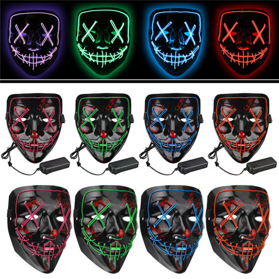 2019 Amazon Hot Sale Black EL Neon Purge Mask LED Party Mask for Cosplay, Halloween, Party pictures & photos