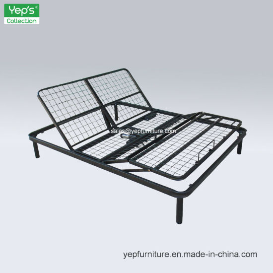 China Metal Frame Electrical Adjustable Bed Base Head Foot up and ...