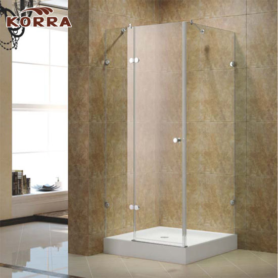 China Square Corner Frameless Shower Room with One Hinged Door ...