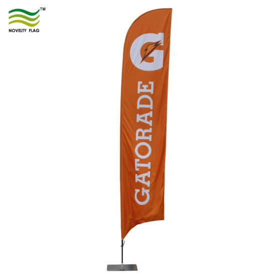 GUNS AND AMMO Swooper Banner Feather Flutter Tall Curved Top Flag
