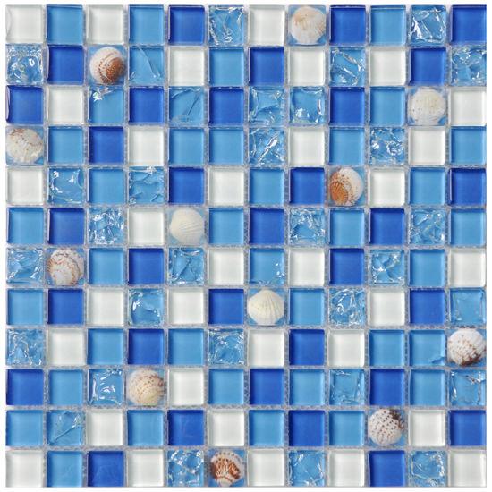 China 300300 Fashionable Crystal Art Mosaic Ceramic Floor Tiles