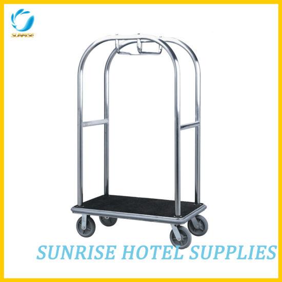 Hotel Luxury Guest Luggage Carts Luggage Trolley