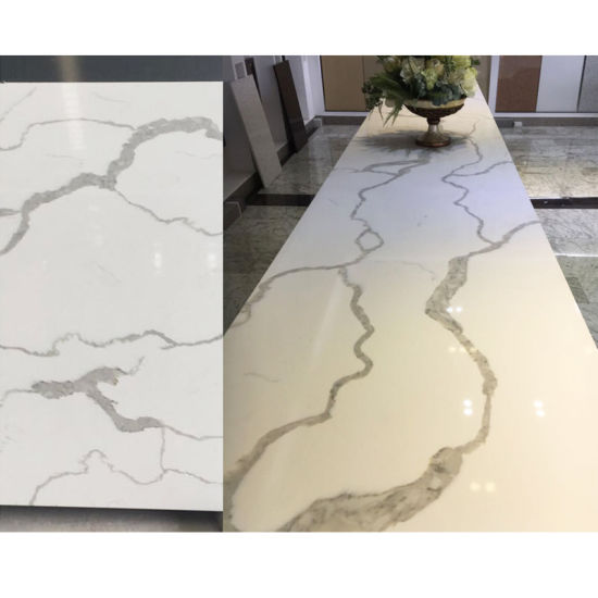 Artificial Marble Crystal Quartz Stone For Coustomed Long Table
