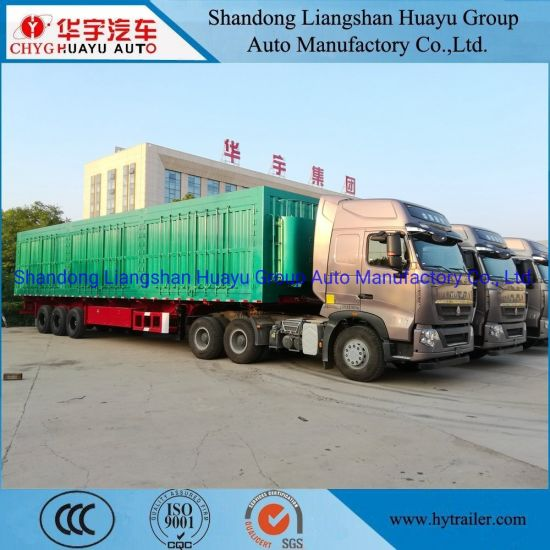 3 Axle Heavy Duty Box/Van Type Dump/Tipper/Tipping Semi Trailer for Construction Waste/Sand /Mineral/Stone/Coal Transport
