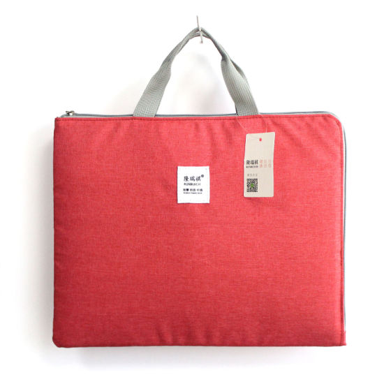 Wholesale File Students Book Pocket Zipper Travel Business Tote Storage Document Bag