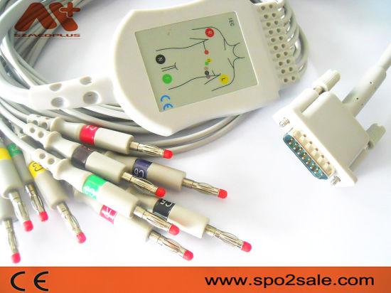 Aspel One-Piece 10-Lead EKG Cable