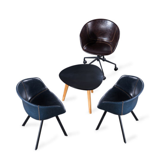 Plastic Seat Swivel Base Meeting Chair with Wheels