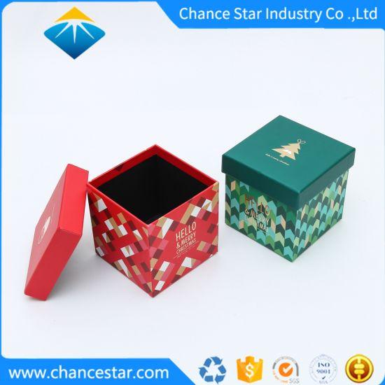 Custom Hat Box Style Cardboard Christmas Gift Paper Box
