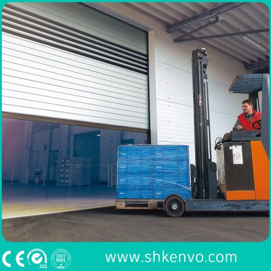 Industrial Automatic Spiral Aluminum Metal Thermal Insulated High Speed Performance Fast Action Rapid Rise Overhead Roll up or Roller Shutter Door for Warehouse