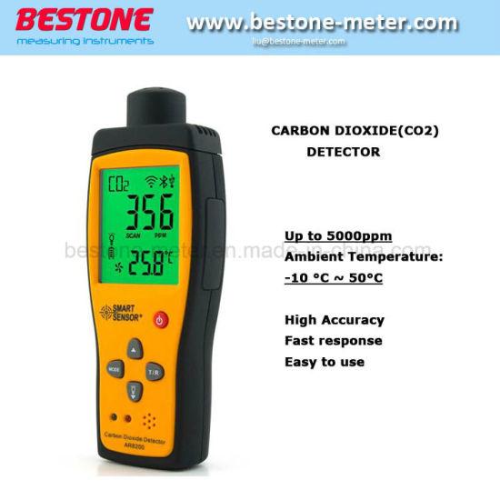 Smart Sensor Ar8200 Digital Portable Carbon Dioxide CO2 Gas Detector Tester  Monitor Range 0-5000ppm