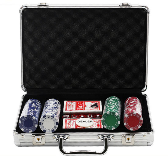 Portable Aluminum Alloy Chip Case Poker Chip Box