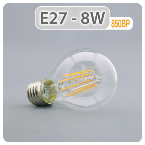 LED Lighting Lamp 4W 6W 8W LED Light E27 B22 LED Bulb A60 LED Filament Bulb pictures & photos