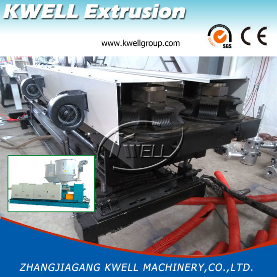 High Effective/High Speed PE Double Wall Corrugated Pipe Extrusion Line pictures & photos