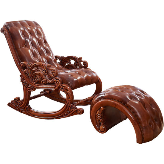 Optional Color Rocking Leather Chairs