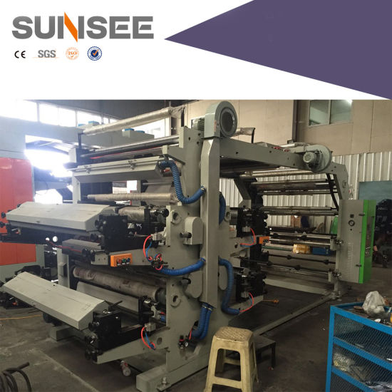 Full Automatic Flexo Printing Machine Have Automatic Tension, Spiral Wheel