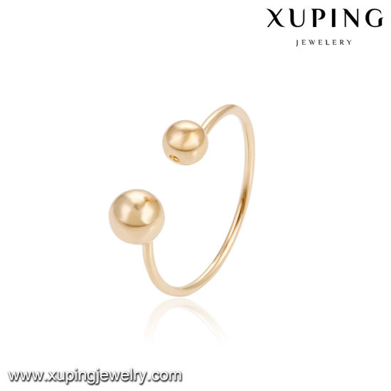 China Fashion Simple Gold Ring Without Stone Wholesale 18K