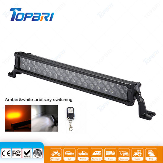 """Agriculture Lights 20"""" 108W Auto Driving Amber White LED Light Bar"""