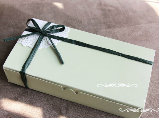 Handmade Paper Cardboard Cookiespacking Gift Box Ribbon
