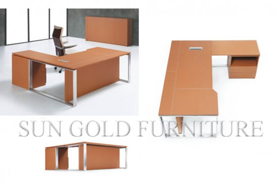 Orange Big Boss Table High End Office Desk Modern (SZ OD488)