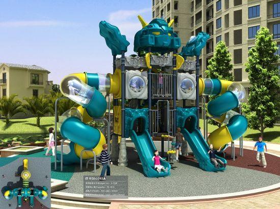 china kaiqi cool robot themed large multi level playground with
