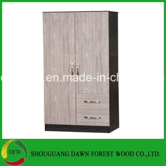 huge selection of faa10 93bde China 2 Door Wardrobe /2 Drawers Combi / Grey Oak High Gloss ...