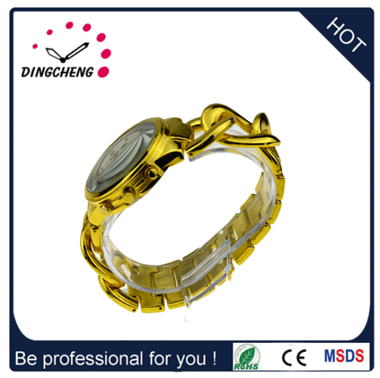 Hot Sale Special Custom Gold Watch with Alloy Belt (DC-726) pictures & photos