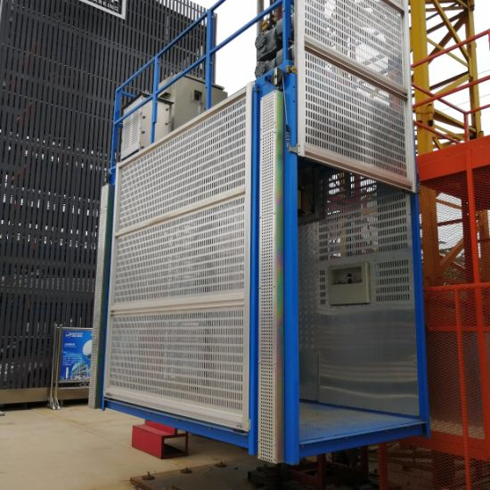 Sc200/200 Construction Lift/Construction Material Lift/Passenger Hoist for  Building