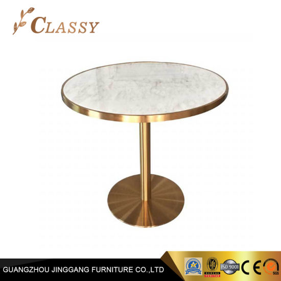 China Restaurant Furniture Home Round Marble Dining Room