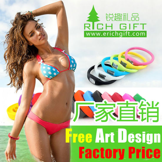 Custom Silicone Watch Band with Printing Logo Crossfit Kids Girls pictures & photos