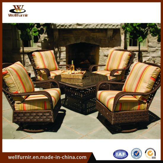 Incredible 4 Seater Outdoor Leisure Dining Sofa Set With Swivel Chair Table Wf 050016 Spiritservingveterans Wood Chair Design Ideas Spiritservingveteransorg