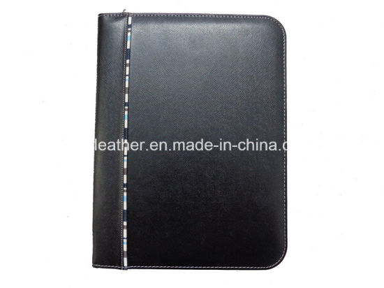 Black Leather Cover Medical File Folders with Pockets pictures & photos