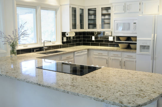 High Temperature Resistant in 150 Degrees Quartz Kitchen Countertop