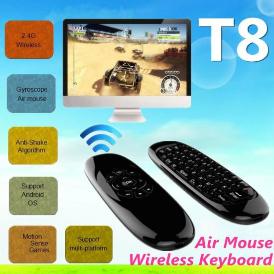 T8 Mini Remote Air Mouse T8 F10 Air Flying Mouse Wireless Keyboard for Android TV Box