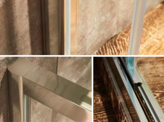 China Aluminium Frame Free Standing Toughened Glass Shower Enclosure ...