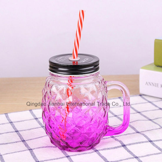 500ml Pineapple Cocktail Novelty Drinking Glass Mason Jar pictures & photos